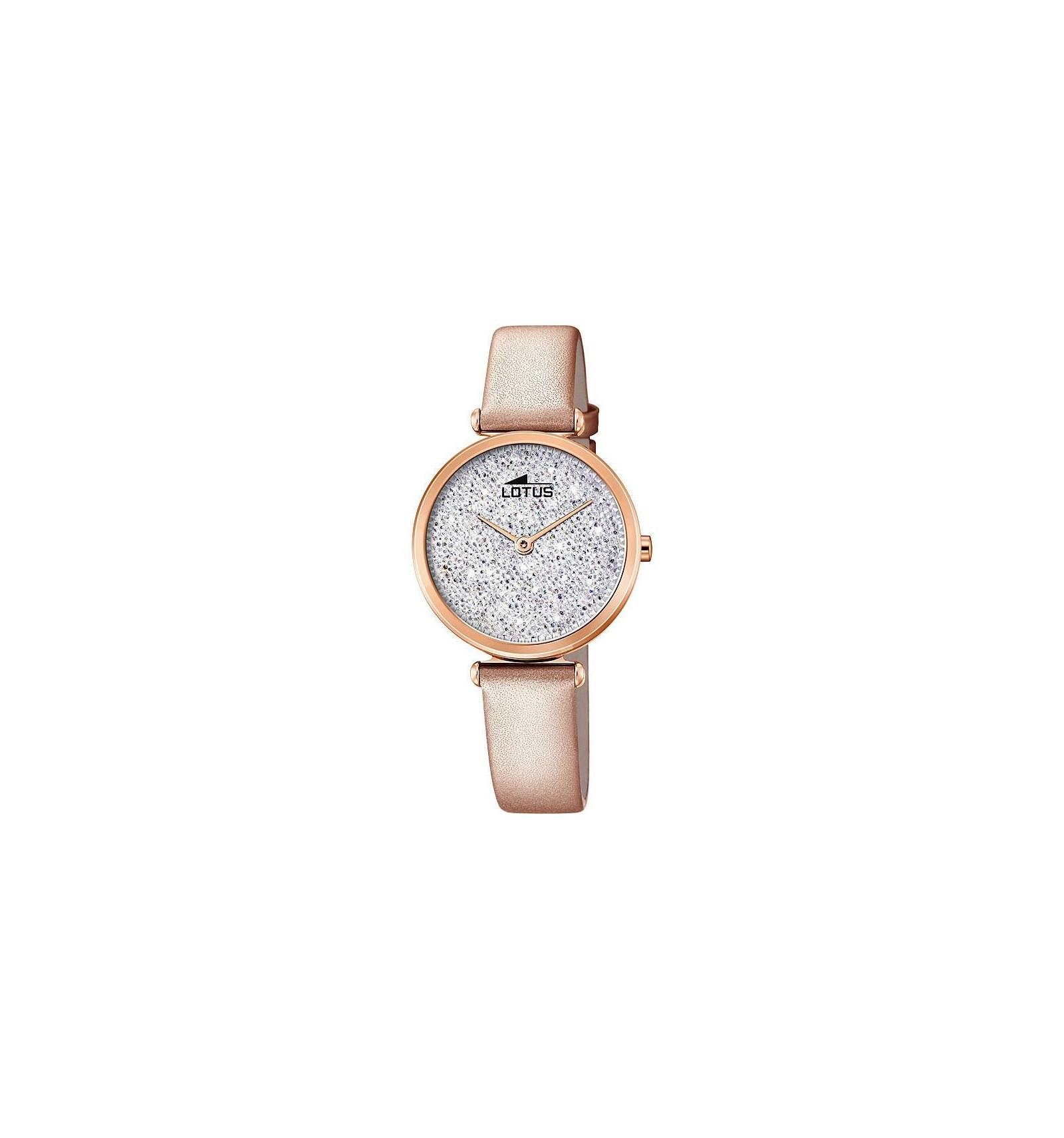 montre femme bracelet cuir rose