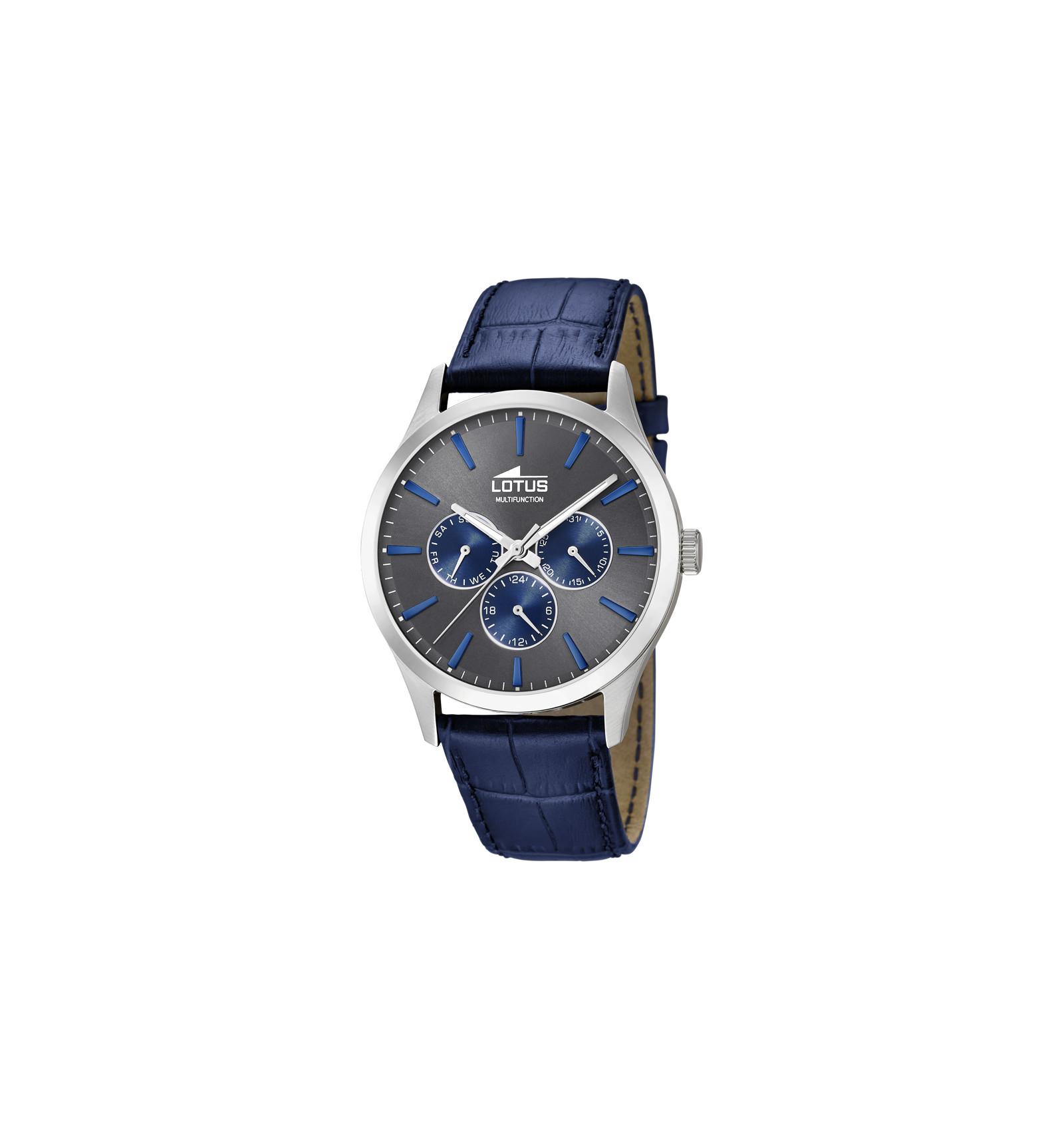 bracelet cuir bleu montre