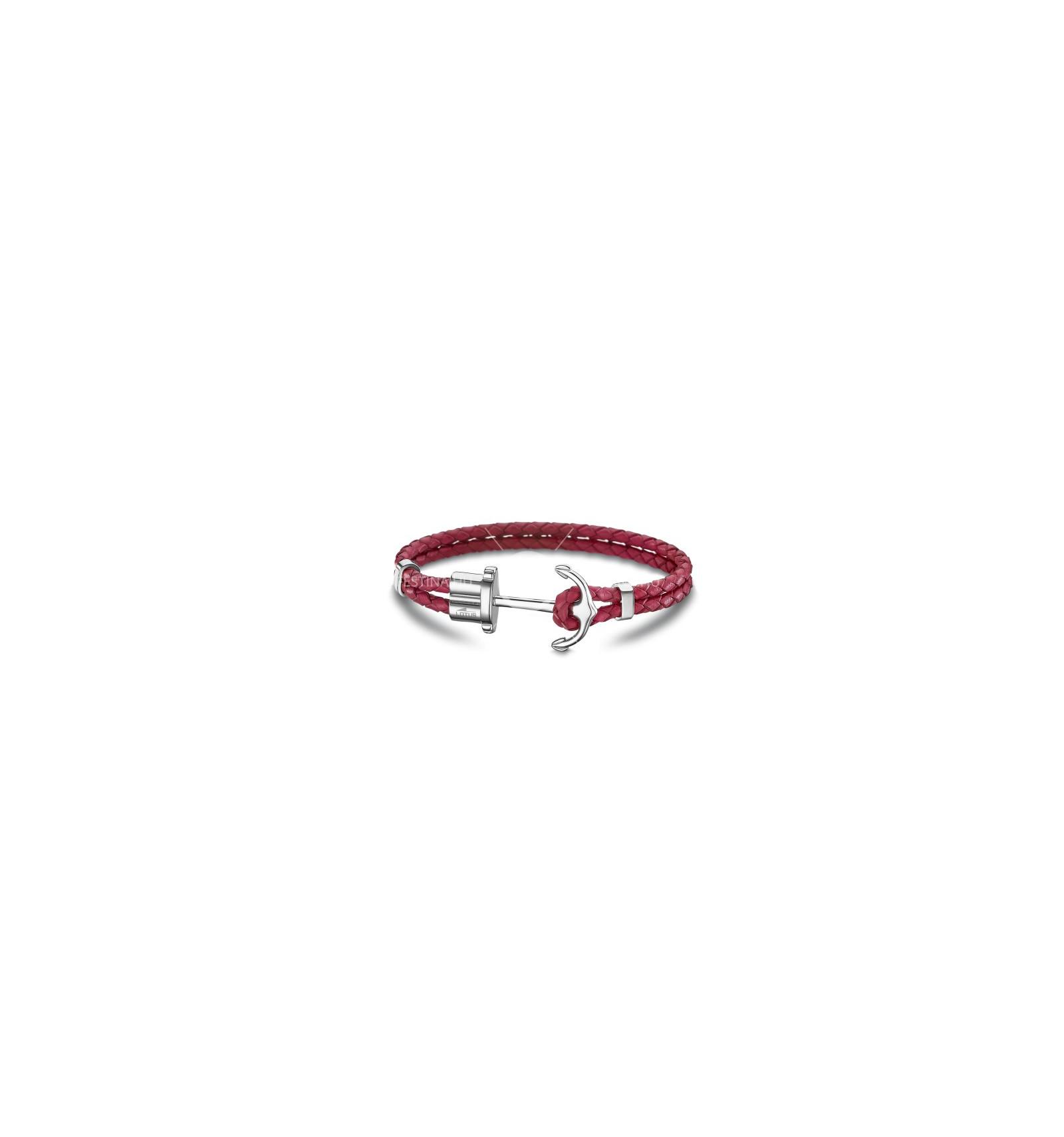 bracelet femme ancre rose